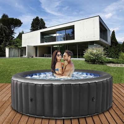 mSpa Whirlpool »Comfort Bergen C-BE041 aufblasbarer Outdoor Pool«, Extra dickes Rhino-Tech 6-Schicht-PVC, 118 Luftdüsen, 180.0 x 180.0 x 70.0 cm, Für 4 Personen