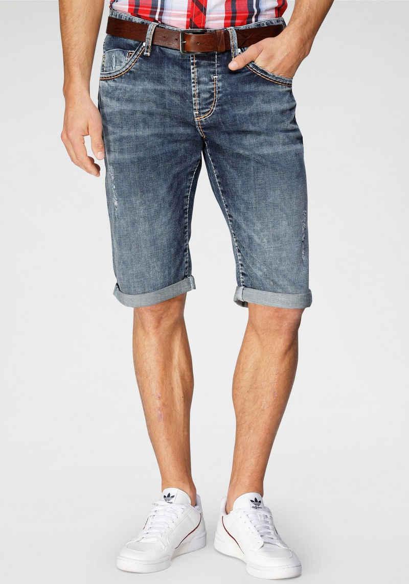 CAMP DAVID Shorts im Used-Look
