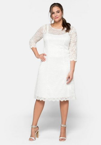 Sheego Nėriniuota suknelė su neįkyrus Glanz
