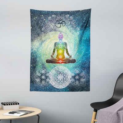 Wandteppich »aus Weiches Mikrofaser Stoff Für das Wohn und Schlafzimmer«, Abakuhaus, rechteckig, Yoga Mandala Zen Chakra Motiv