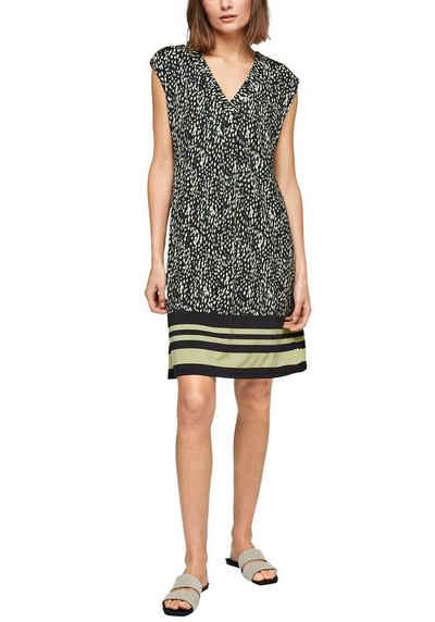 s.Oliver BLACK LABEL Jerseykleid im hochwertigen Alloverprint