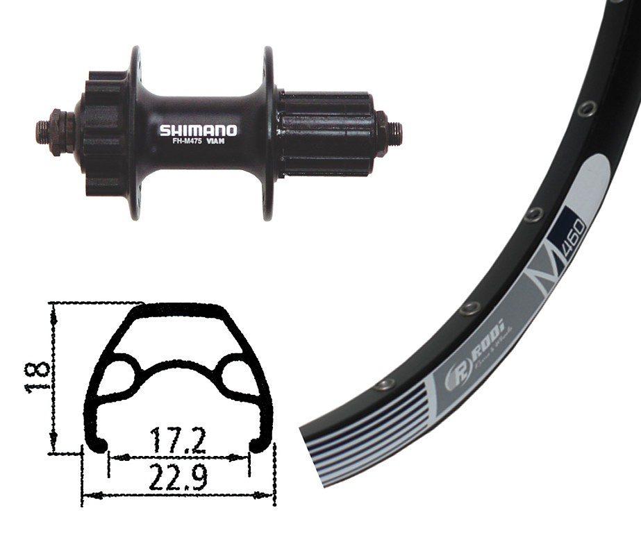 Rodi Laufrad »M460 Hinterrad 26x1.9, 32L, Disc, mit Alivio Disc«