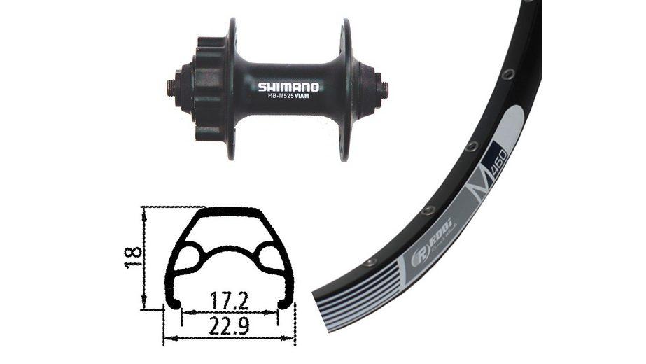 Rodi Laufrad »M460 Vorderrad 26x1.9 32L Disc mit Alivio Disc«
