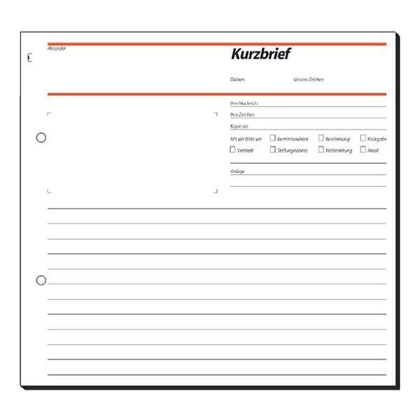 Sigel Formularbuch »Kurzbrief«