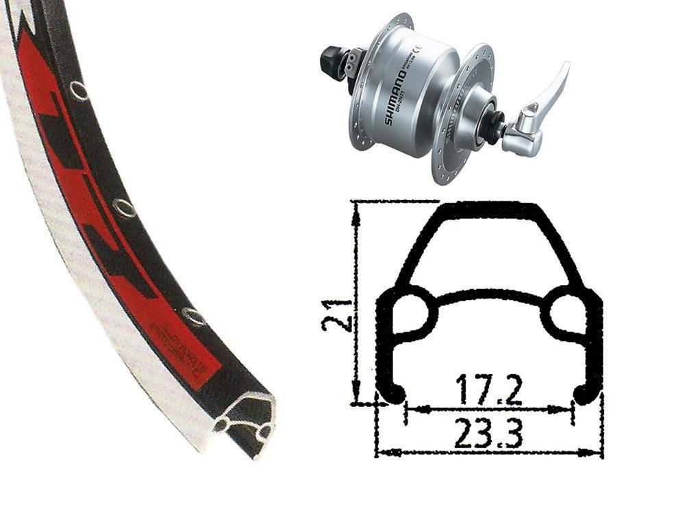 Rodi Laufrad »VR17 Vorderrad 622-17 36L mit DH-3N72 Nabendynamo«