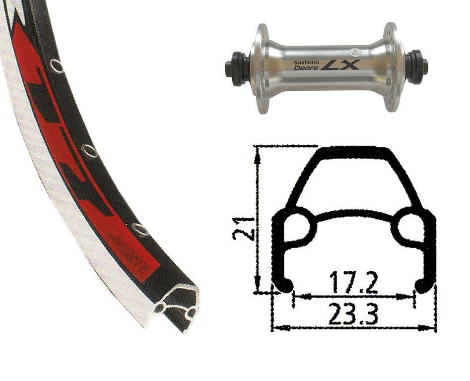 Rodi Laufrad »Rodi VR17 Vorderrad 622-17 36L mit Deore LX«