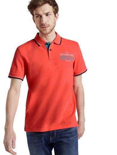 TOM TAILOR Poloshirt mit kontrastfarbenen Details