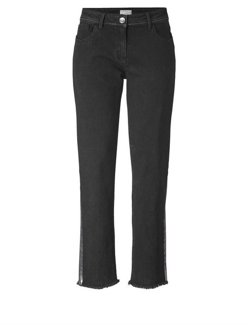 Hosen - Angel of Style by Happy Size Slim Fit Jeans knöchellang › schwarz  - Onlineshop OTTO