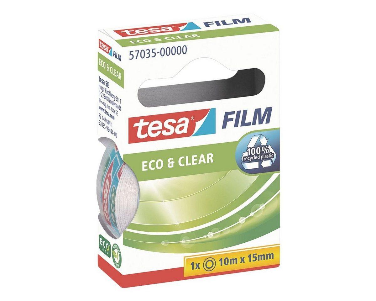 Tesa Klebeband transparent 57035, 15 mm/10 m (B/L) »Eco & Clear«