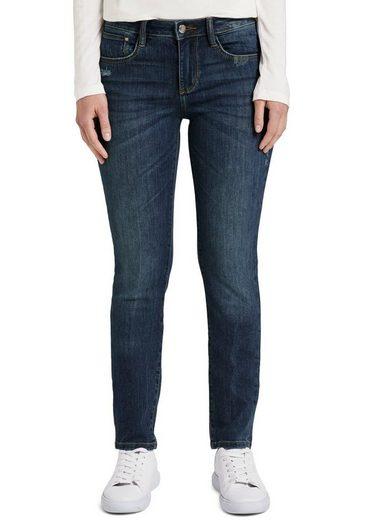 TOM TAILOR Straight-Jeans mit leichten Used-Effekten