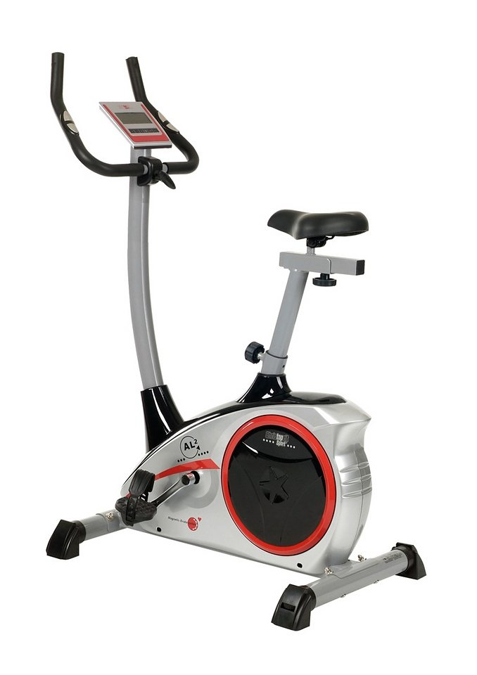 Christopeit Sport® Ergometer, »AL 2« in silberfarben-schwarz-rot