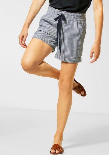 STREET ONE Shorts im Paperbag-Style mit angesagtem Streifen-Look