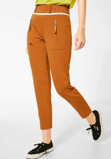 STREET ONE Jogger Pants »Bonny« mit aufgesetzten Reißverschlusstaschen