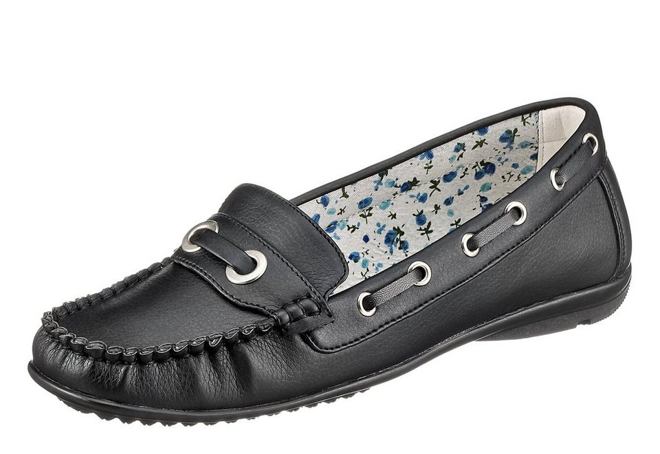 CITY WALK Slipper mit modischer Mokassin-Optik in schwarz