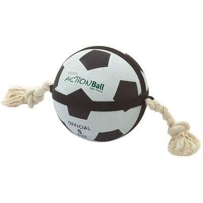 Karlie Tierball »Hunde Fußball mit Griffseilen«, (1-tlg)
