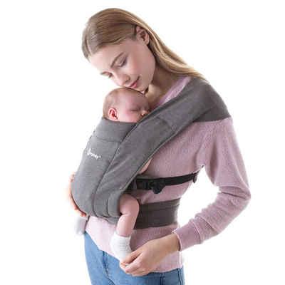 Ergobaby Babytrage »Embrace - Heather Grey«, Ergonomische Bauchtrage für Neugeborene