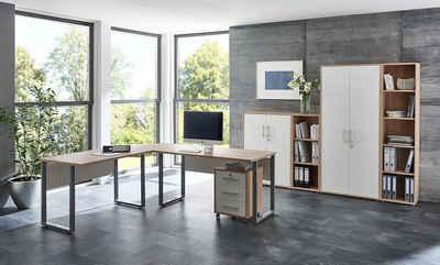 moebel-dich-auf Büromöbel-Set »OFFICE EDITION«, (Büromöbel abschließbar, Made in Germany, Set 4)