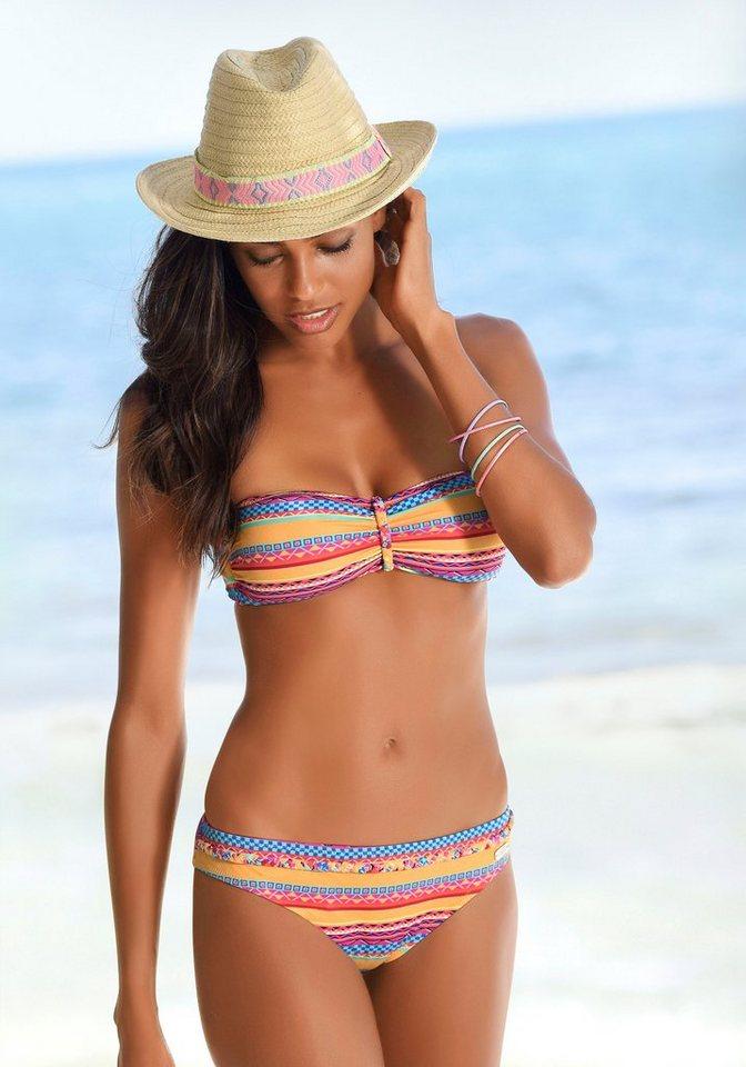 Bademode - Buffalo Bikini Hose »Lux«, mit Ziergürtel › gelb  - Onlineshop OTTO