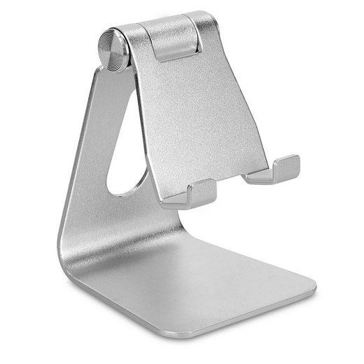 kwmobile Smartphone-Halterung, (universal - Handy Halterung verstellbar - Smartphone Tablet Metall Ständer Halter mit flexiblem Gelenk - für z. B. iPhone iPad)