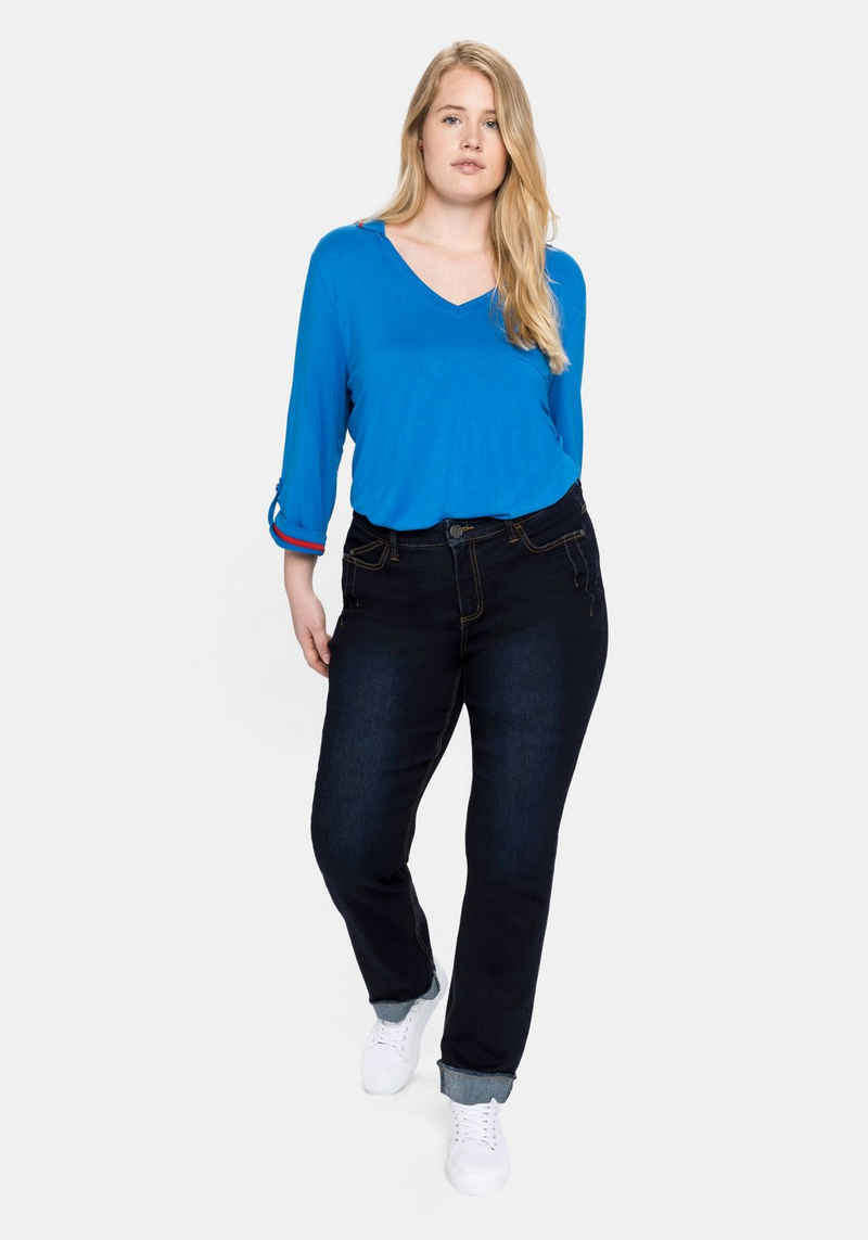 Sheego Gerade Jeans mit REPREVE® Polyesterfasern