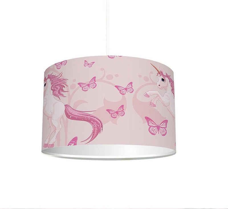 """STIKKIPIX Lampenschirm »KL06«, Kinderzimmer Lampenschirm """"Einhorn"""", kinderleicht eine Einhorn-Lampe erstellen, als Steh- oder Hängeleuchte/Deckenlampe, perfekt für Einhorn-begeisterte Mädchen"""