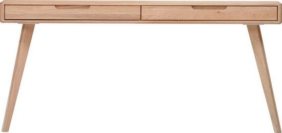 Home affaire Schminktisch »Infinity«, mit schönen abgerundeten Kanten, aus massivem Eichenholz, Breite 160 cm