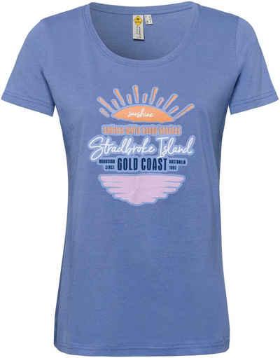 ROADSIGN australia Rundhalsshirt mit stilisierten Sonnenuntergang