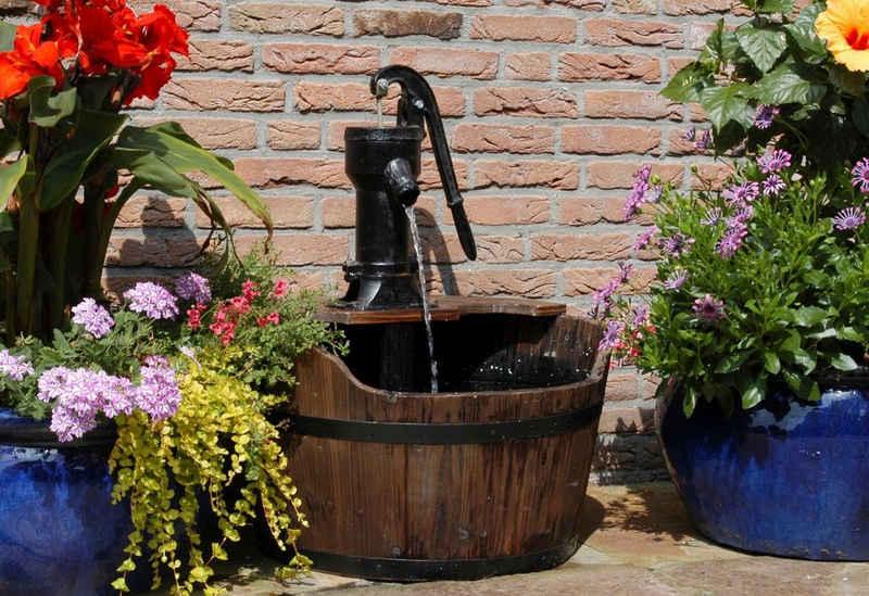 Ubbink Gartenbrunnen »Newcastle«, 60 cm Breite, Wasserbecken BxT: 60x60 cm, (Komplett-Set)