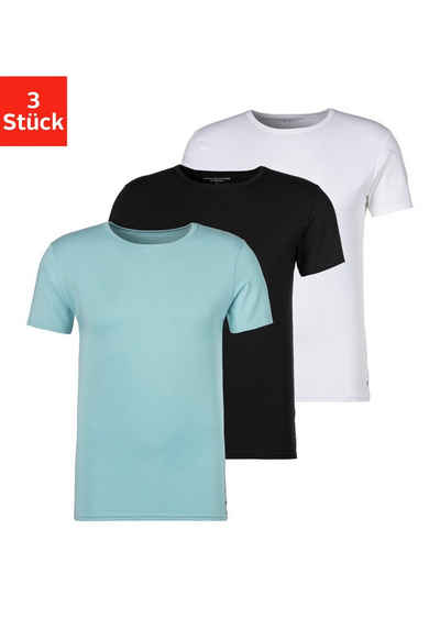 Tommy Hilfiger T-Shirt (3er-Pack) Logostickerei am Saum