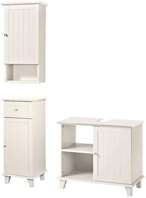 Badezimmer Sets - WELLTIME Badmöbel Set »Venezia Landhaus«, 3 tlg.  - Onlineshop OTTO