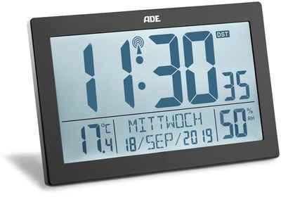 ADE Funkwecker »CK1927« XL-Funkwanduhr mit Thermo-/Hygrometer