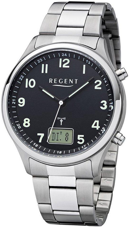 Regent Funkuhr »URBA445 Regent Herren Uhr BA-445 Metall