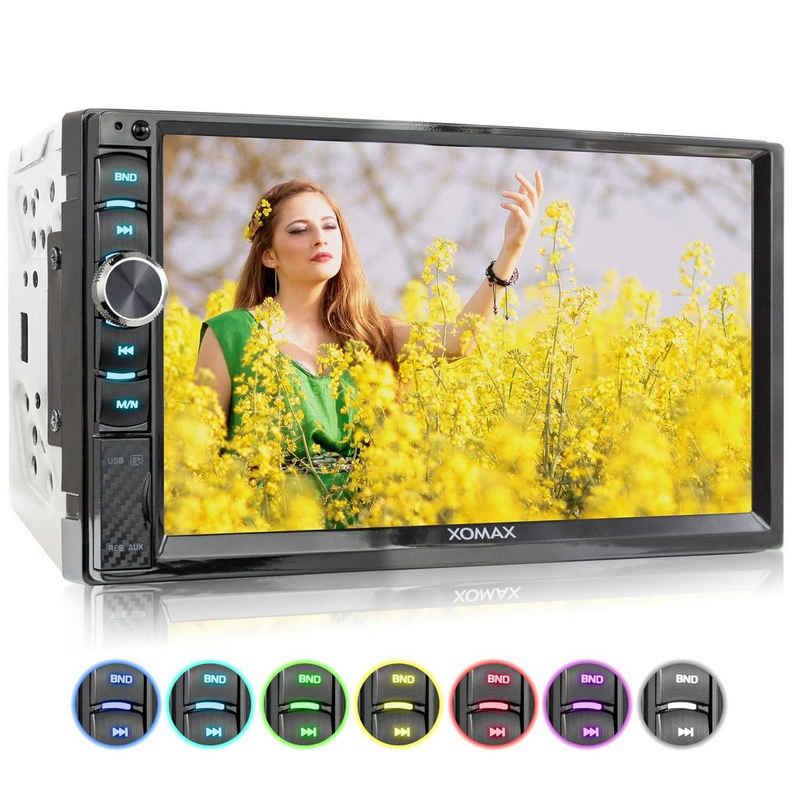 XOMAX Autoradio (XOMAX XM-2V719 2DIN Autoradio mit Mirrorlink, 7'' Zoll Touchscreen Monitor, AUX-IN, SD, USB und BLUETOOTH)