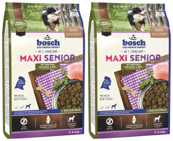 Bosch Petfood Trockenfutter »Maxi Senior Geflügel«, 2 Beutel á 2,5 kg