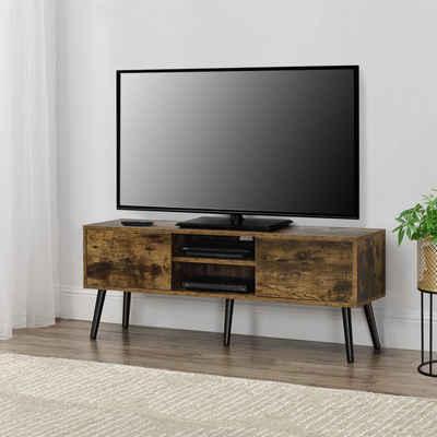 en.casa Lowboard, TV-Board, »Eskilstuna« Fernsehtisch Sideboard Kommode 120x29,5x46,5cm Holzfarben