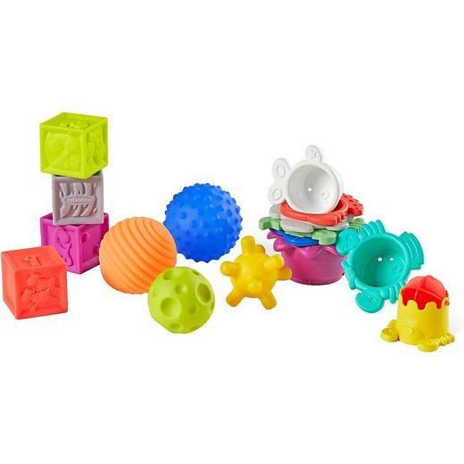 INFANTINO Rasselball »Infantino Sensorische Bauklötze, Bälle & Tassen«