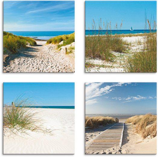 Artland Leinwandbild »Strand und Sanddünen«, Strand (4 Stück)