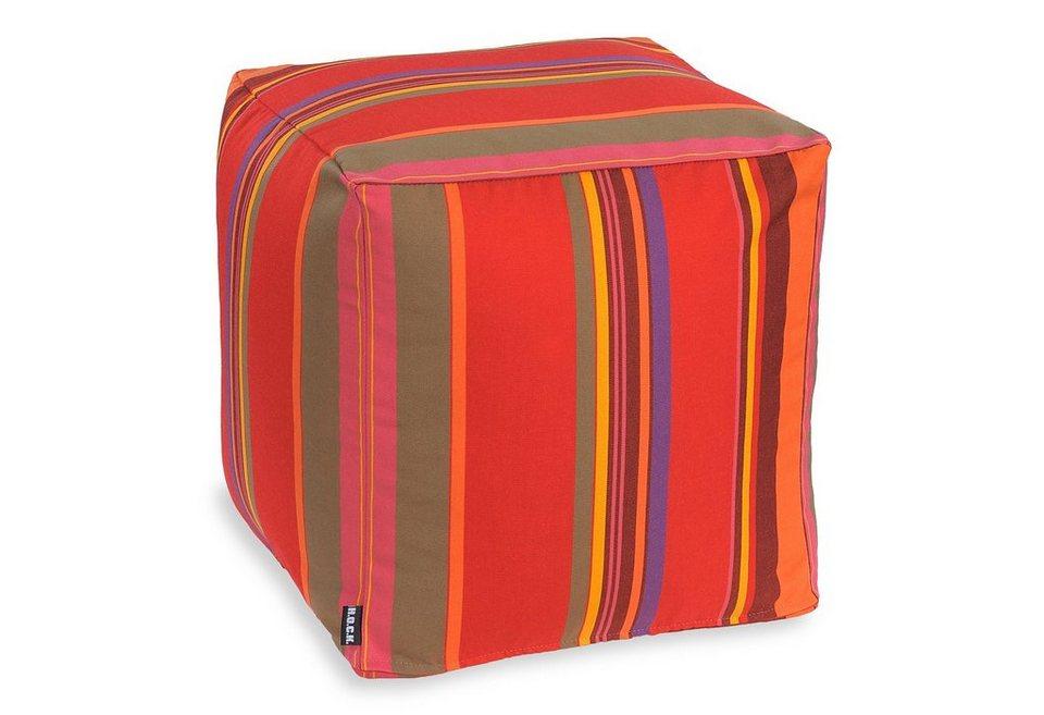 Hock, Outdoor-Sitzwürfel »Yucatan« in rot