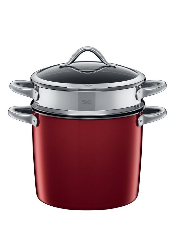 Pastatopf, Silit, »Vitaliano Rosso«, 24 cm in rot