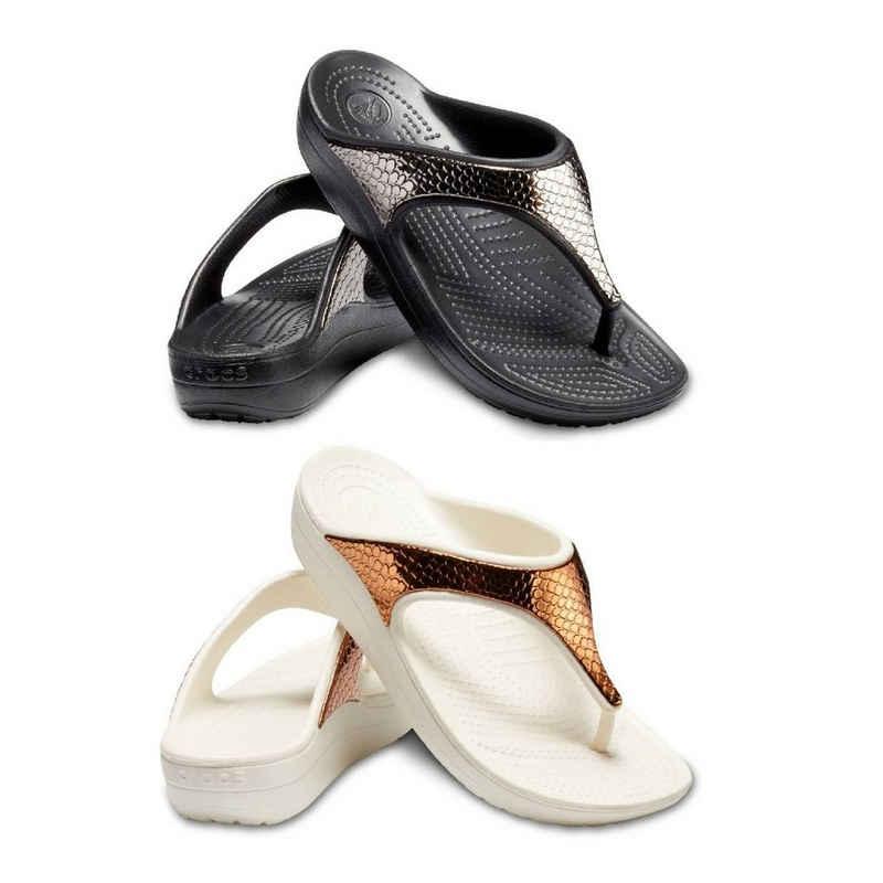Crocs »Crocs Sloane MetalText Flip W« Sneaker Ballerinas