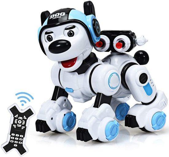COSTWAY RC-Roboter »RC Interaktiv Roboter Ferngesteuerter Roboter«, Hundespielzeug, mit Musik-, Tanz-, Blink- und Schießfunktion