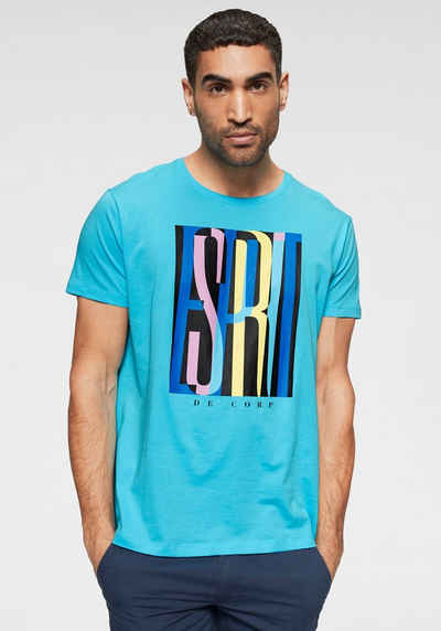 edc by Esprit T-Shirt mit Logoprint