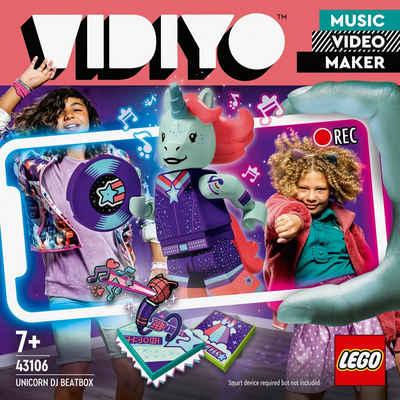 LEGO® Konstruktionsspielsteine »Unicorn DJ BeatBox (43106), LEGO® VIDIYO™«, (84 St), appfähig durch die LEGO® VIDIYO™ App