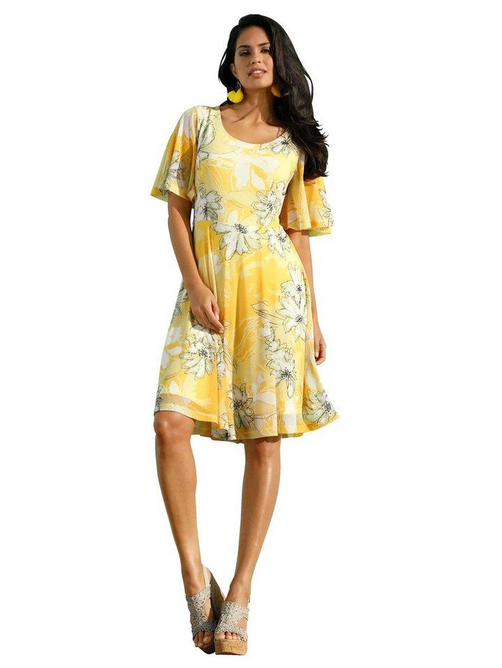 Festtagsmode - Amy Vermont Kleid aus Mesh Qualität mit floralem Druck › gelb  - Onlineshop OTTO