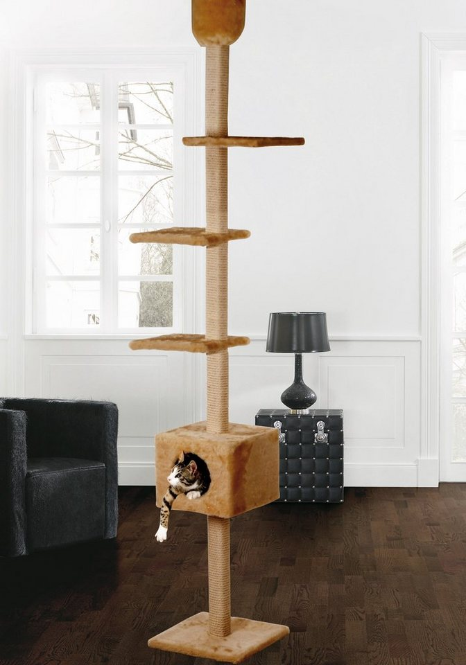 Kratzbaum-Deckenspanner »Kratzturm« in beige