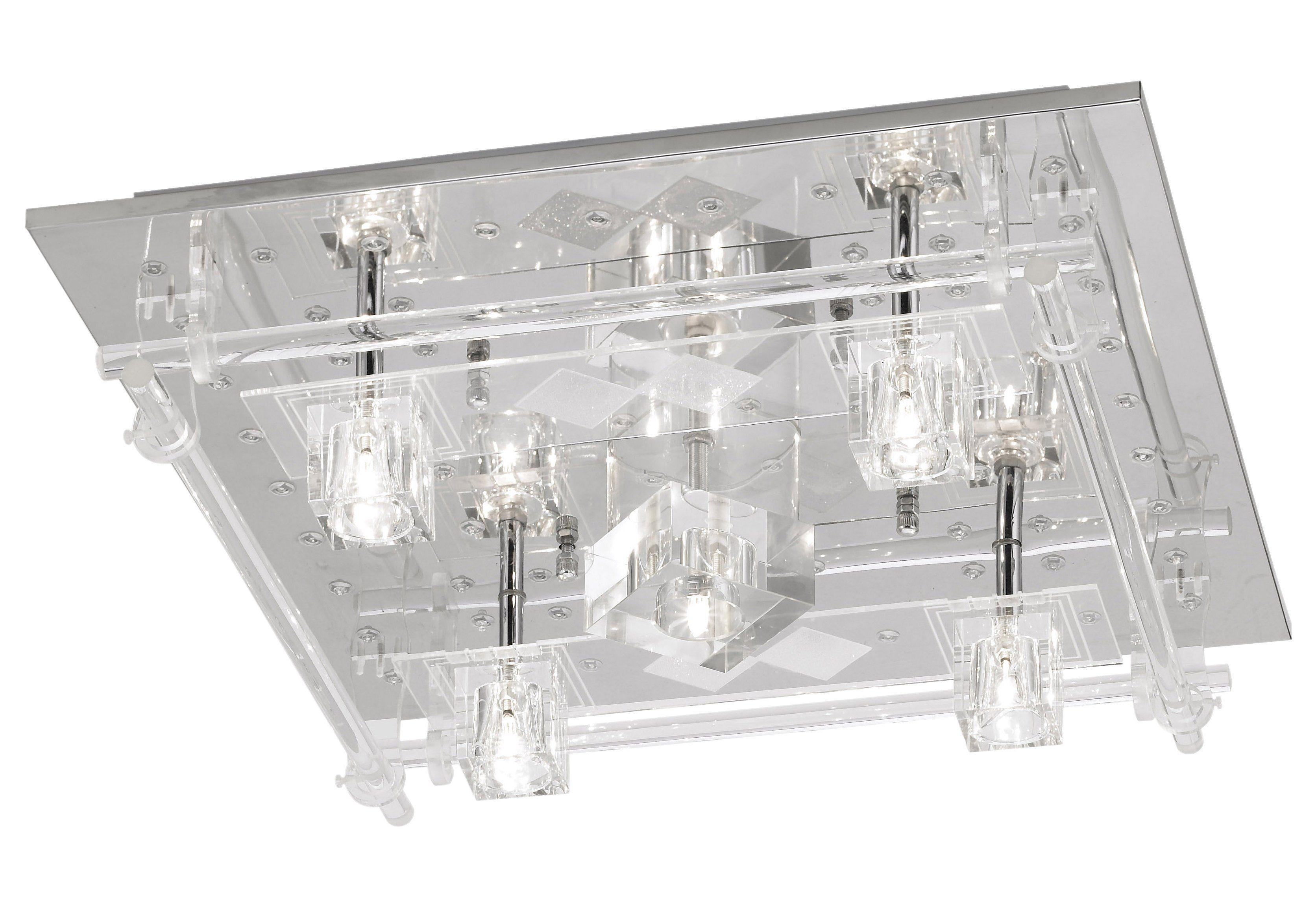 Halogen-/LED Deckenlampe mit Fernbedienung, Leuchten Direkt