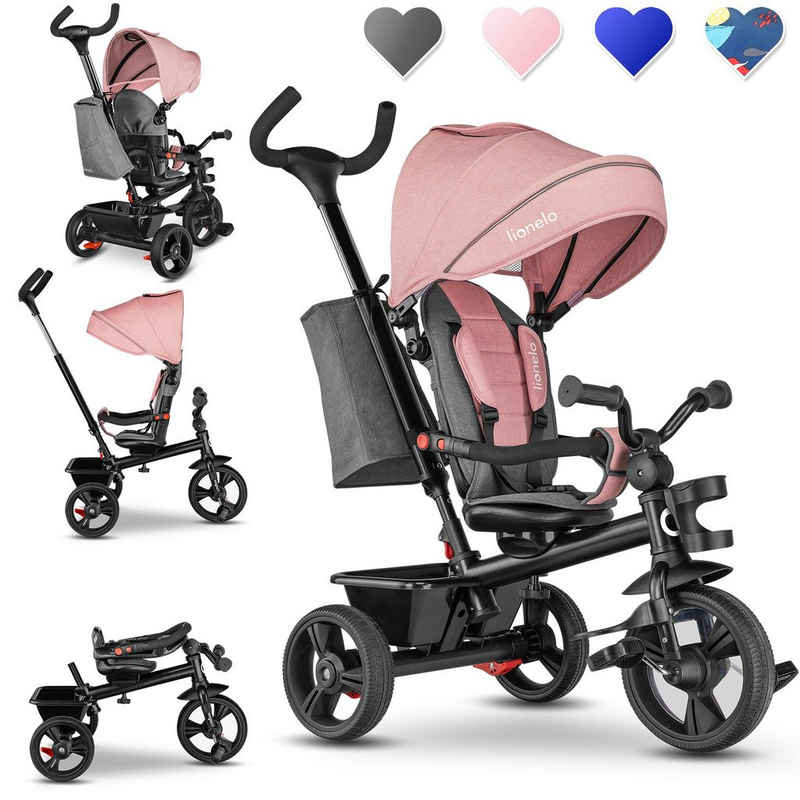lionelo Dreirad-Kinderwagen »HAARI«, Dach, Elternlenkung, Zusammenklappbar, Tasche /von 18 Monaten bis 5 Jahren