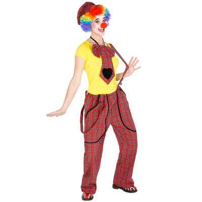 tectake Clown-Kostüm »Frauenkostüm Clown Pepa«