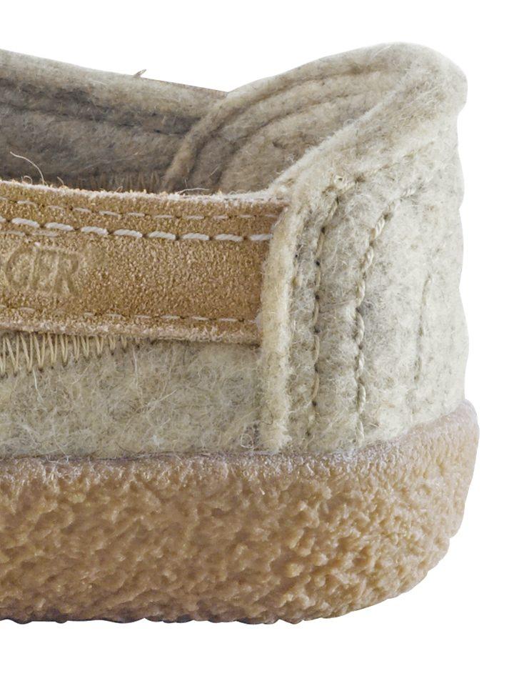 HAFLINGER Filz-Hausschuhe online kaufen  beige