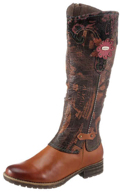 LAURA VITA »GACMAYO« Stiefel mit dezenter Blütenapplikation
